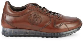 Roberto Cavalli Leather Logo Platform Sneakers