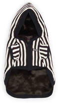 Henri Bendel Iconic Striped Pet Reversible Hoodie