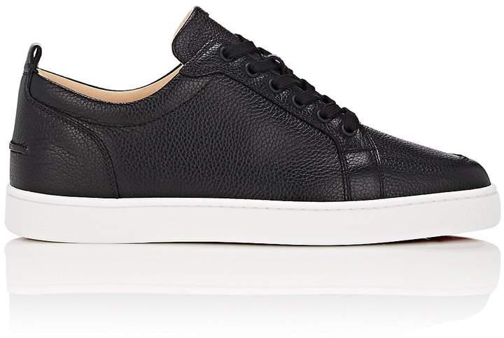 Christian Louboutin Men's Rantulow Flat Leather Sneakers