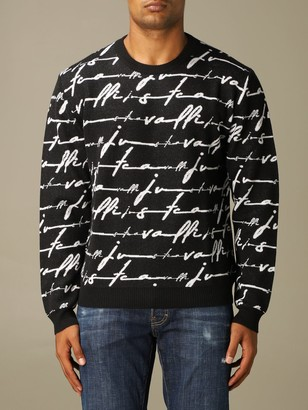 Just Cavalli Pullover With All Over Logo