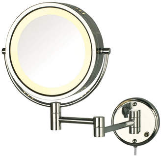 """The Jerdon HL75C 8.5"""" Wall Mount Lighted Makeup Mirror Bedding"""