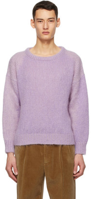 Gucci Purple Knit Wool and Mohair Sweater
