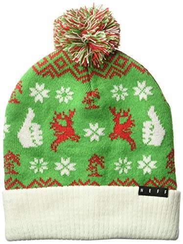35246b289 Unisex-Adult's Feliz Navidad Beanie Christmas Santa Hat