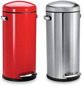 Simplehuman Retro Fingerprint-Proof Round 30-Liter Step-On Trash Can