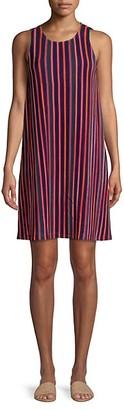 Adrianna Papell Striped Knit Shift Dress