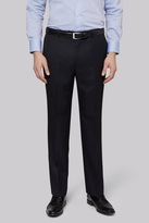 Moss Esq. Regular Fit Plain Navy Suit Pants