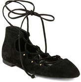 French Connection Kamilla Suede Lace-Up Ballet Flats