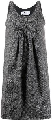 MSGM Ruched Detail Sleeveless Dress