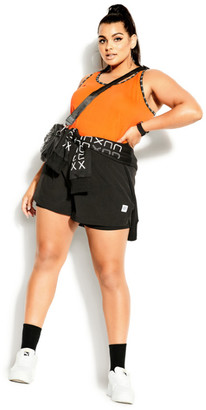City Chic Punch It Tank - orange