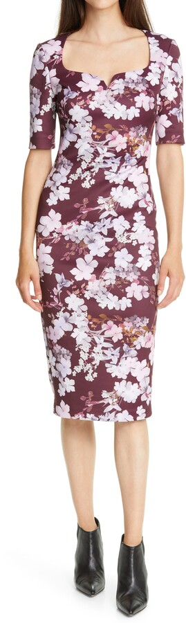 Ted Baker Heike Pergola Floral Print Body-Con Dress