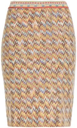 Missoni Metallic Intarsia-knit Skirt