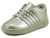 K-Swiss Classic Vn Toddler Round Toe Patent Leather Silver Sneakers.