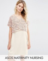 ASOS Maternity - Nursing ASOS Maternity NURSING Shift Dress in Textured Weave