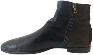 Prada Navy Leather Boots