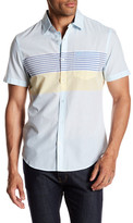 Original Penguin Horizontal Engineered Stripe Heritage Slim Fit Shirt