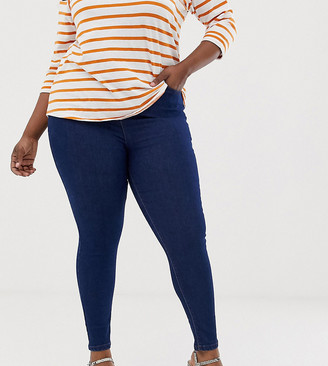 New Look Plus New Look Curve basic skinny denim jegging in blue