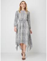 George Handkerchief Hem Snakeskin Print Dress