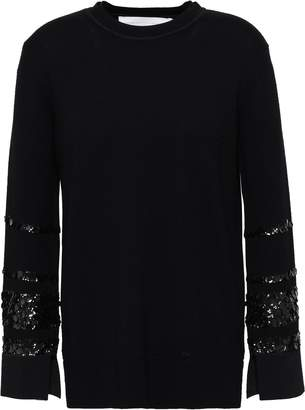 Victoria Victoria Beckham Victoria, Victoria Beckham Sequined Wool Sweater