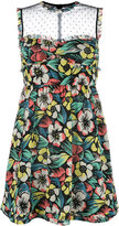 RED Valentino floral print sheer panel dress - women - Silk/Polyamide/Polyester/Spandex/Elastane - 42