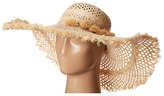 Lauren Ralph Lauren Frayed Sun Hat w/ Tassels Caps