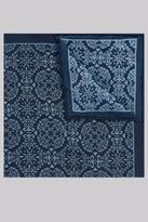 Hardy Amies Navy & Blue Mosaic Silk Pocket Square