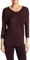 David Lerner Seamed Long Sleeve Pocket Tee