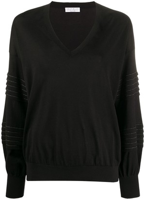 Brunello Cucinelli Rhinestone-Embellished Loose-Fit Jumper