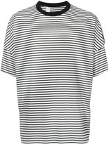 N. Hoolywood - oversized striped T-shirt - men - Polyester/Rayon/Triacetate - 36