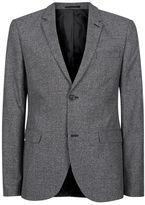 Topman Grey Salt and Pepper Lightweight Skinny Fit Blazer