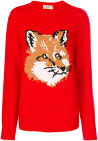 MAISON KITSUNÉ fox pattern jumper - women - Lambs Wool - M