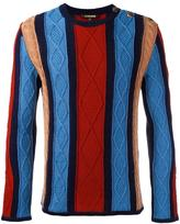 Roberto Cavalli zig zag detail jumper - men - Cotton - M