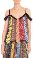 Mary Katrantzou Animal-Tie Printed Off-the-Shoulder Blouse, Multi