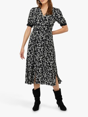 Monsoon Jean Print Midi Dress
