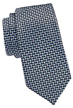 Emporio Armani Men's Layered Stripe Silk Tie