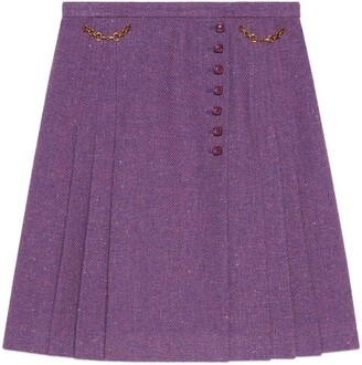 Gucci Tweed skirt with Horsebits