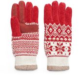 Isotoner Women's Fairisle Chenille Tech Gloves