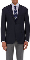 Barneys New York Men's Two-Button Blazer-NAVY