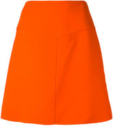 Courreges high waisted V cut-out skirt - women - Silk/Wool/Polyester - 38