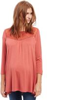 Motherhood Lace Detail Maternity Tunic