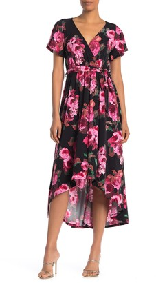 WEST KEI Floral High/Low Waist Tie Dress