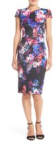 Betsey Johnson Print Stretch Midi Dress