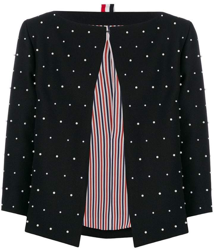 Thom Browne Pearl Embroidered Jacket