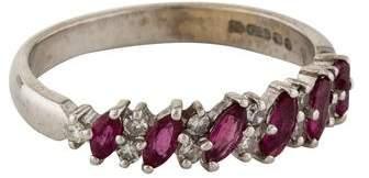 Ring Ruby & Diamond Band