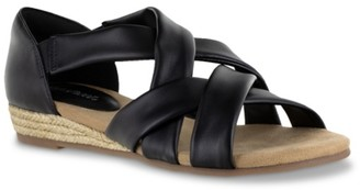 Easy Street Shoes Zora Espadrille Wedge Sandal