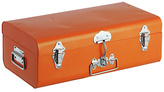 Habitat Small Galvanised Trunk with Silver Clasps - Orange