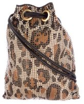 Tory Burch Leather-Trimmed Chain-Mail Pouch