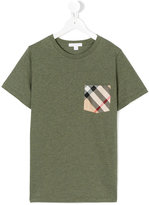 Burberry check pocket T-shirt - kids - Cotton - 14 yrs