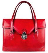 L.a.p.a. Women's Red Leather Briefcase