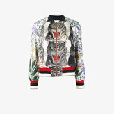 Gucci Patchwork print silk bomber