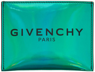 Givenchy Green Iridescent Card Holder